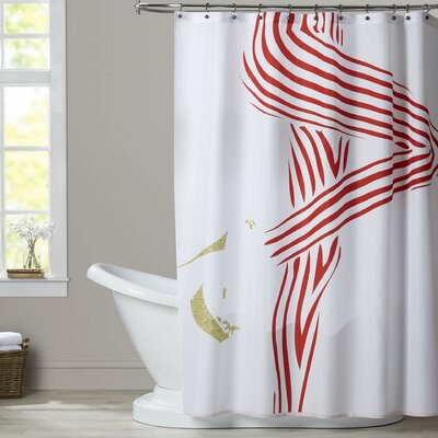 Lage Woman 1 Shower Curtain Options: Red