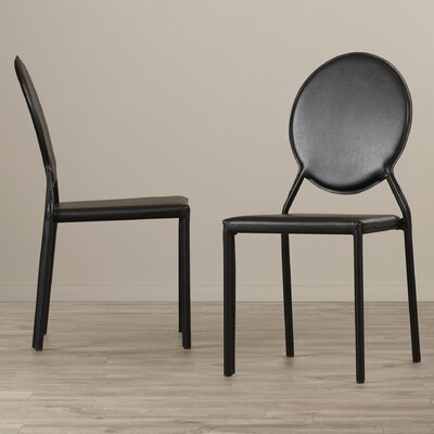 Barnabas Side Chair Upholstery: PVC+Sponge - Black
