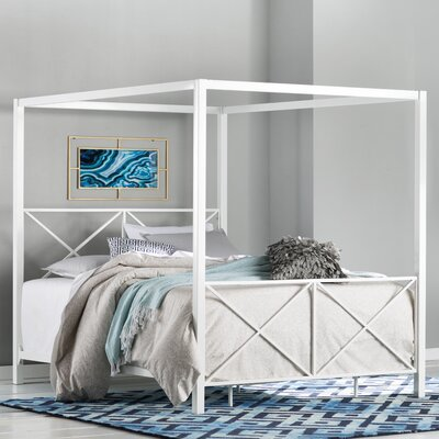 Gilma Canopy Bed Color: White