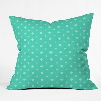 Belle Twinkle Emerald Outdoor Throw Pillow Size: 16 H x 16 W x 4 D