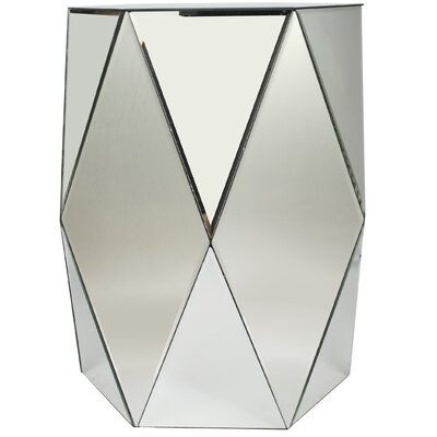 Moretz Geometric Mirrored End Table