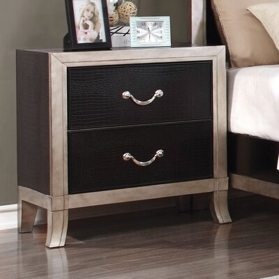 Berthe 2 Drawer Nightstand