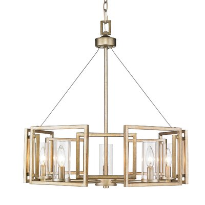 Sean Candle Style Chandelier Finish: White Gold, Size: 5 Light