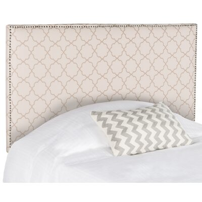 Three Forks Full Upholstered Panel Headboard Upholstery: Pale Pink and Beige