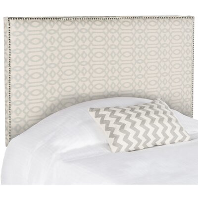 Three Forks Full Upholstered Panel Headboard Upholstery: Pale Blue and Wheat
