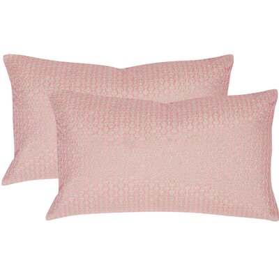 Berniece Box Stitch Lumbar Pillow Color: Neon Petunia