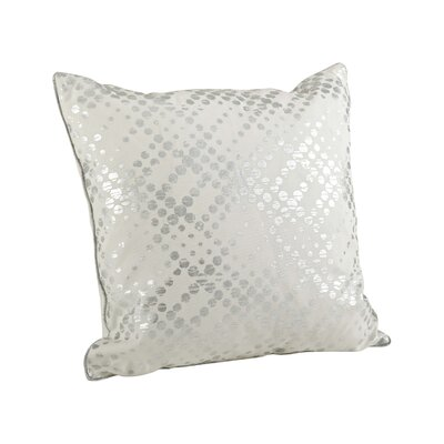 Lowndes Metallic Foil Throw Pillow Color: Silver