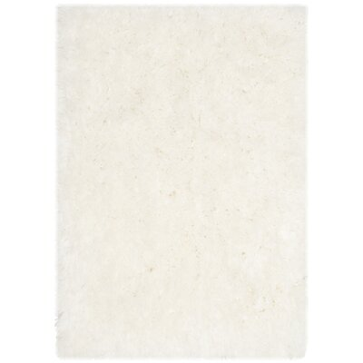 Earley Shag White Area Rug Rug Size: 86 x 12