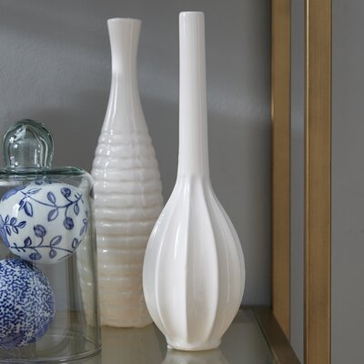 Stoneware Table Vase Set Color: Lime WRLO2016 43228684