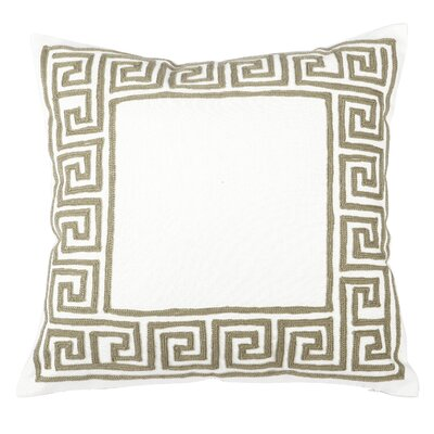 Jonna Embroidered Cotton Throw Pillow Color: Taupe
