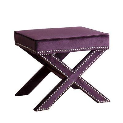 Zanuck Ottoman Upholstery: Purple