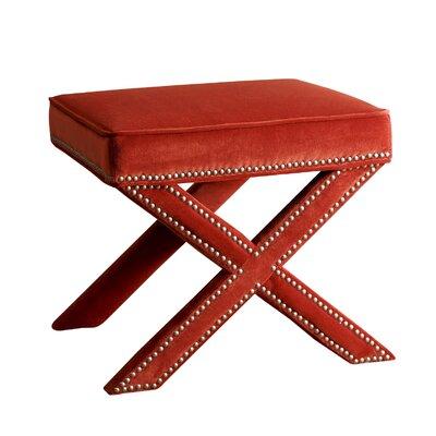 Trevethan Ottoman Upholstery: Sangria Orange