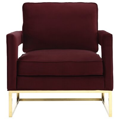 Resnick Arm Chair Upholstery: Maroon