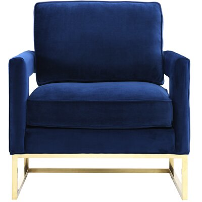 Resnick Arm Chair Upholstery: Navy
