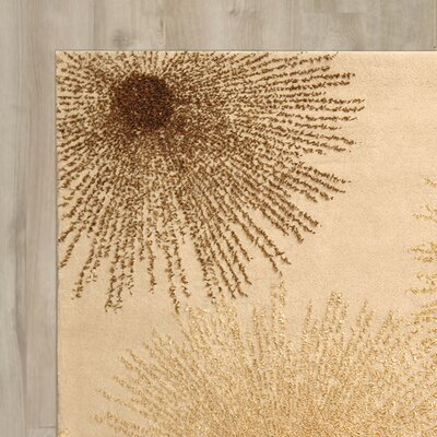 Germain Hand-Tufted Beige Area Rug Rug Size: 8 x 10