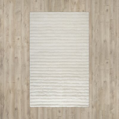 Wyler Hand-Tufted Pearl Area Rug Rug Size: 2 x 3