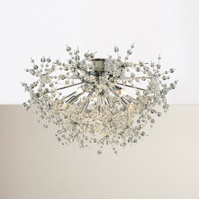 Crawford 6-Light Semi Flush Mount