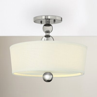 Shaw 3-Light Metal Semi Flush Mount Finish: Polished Nickel