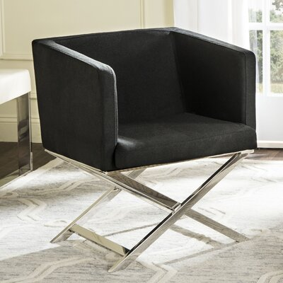 Cammi Arm Chair Color: Black Fabric