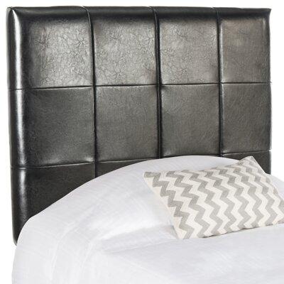 Muni Upholstered Panel Headboard Upholstery: Black, Size: Twin