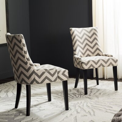 Doran Dining Chair Upholstery: Gray / White