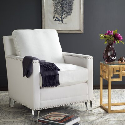 Becontree Armchair Upholstery: White