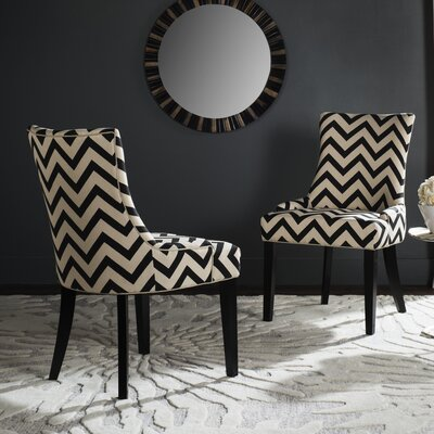 Doran Dining Chair Upholstery: Black / White