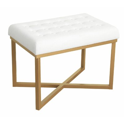 Hansen Rectangular Ottoman Upholstery Color: White
