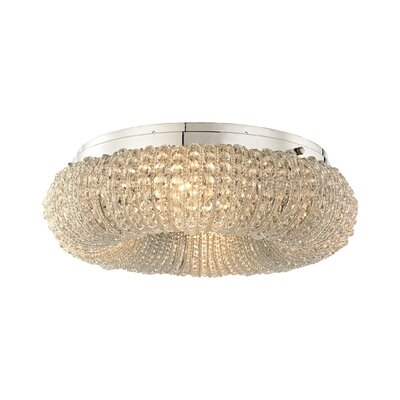 Warsage 4-Light Flush Mount Bulb Type: 60W Incandescent