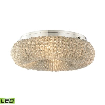 Warsage 4-Light Flush Mount Bulb Type: 4.8W LED