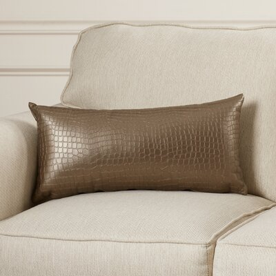 Bryna Gator Throw Pillow Color: Pewter