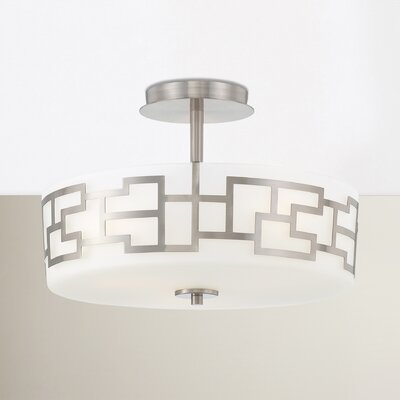 Brockman 3-Light Semi Flush Mount