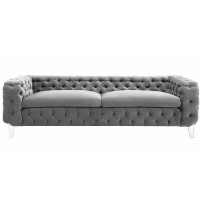 Cec�lia Chesterfield Sofa Upholstery: Gray