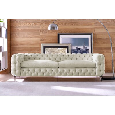 Cec�lia Chesterfield Sofa Upholstery: Beige