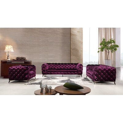 Forslund 3 Piece Living Room Set