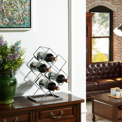 Aramis 6 Bottle Tabletop Wine Bottle Rack