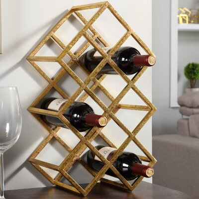 Vernet 9 Bottle Tabletop Wine Bottle Rack