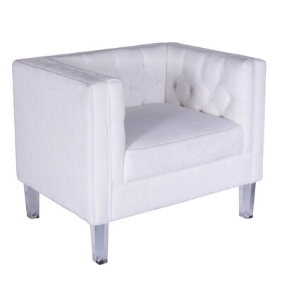 Acrodectes Armchair Upholstery: Bone White