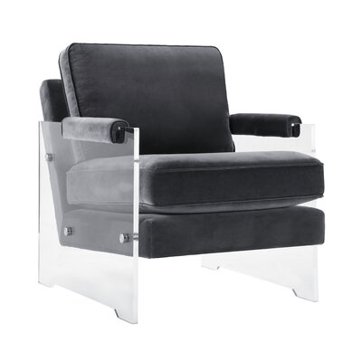 Edi Contemporary Solid Armchair Upholstery: Gray