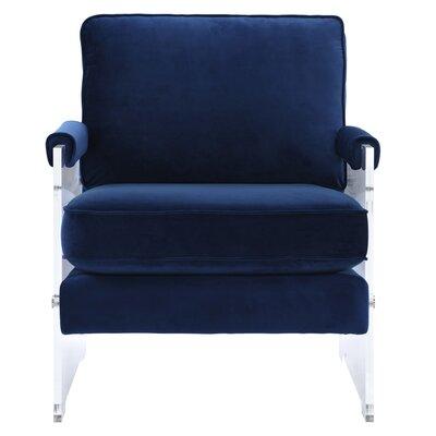 Edi Velvet/Lucite Armchair Upholstery: Navy