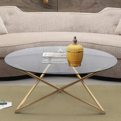 Borkowski Coffee Table Base Color: Brushed Gold