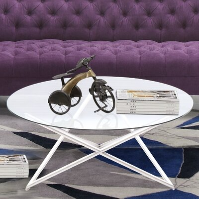 Borkowski Coffee Table Base Color: Brushed Steel