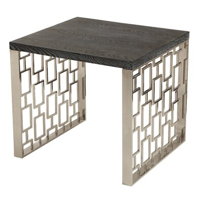 Ava Contemporary Rectangular End Table Top Color: Charcoal