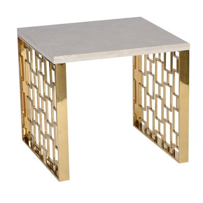Ava Modern  Metal End Table