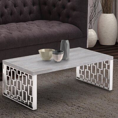 Ava Stainless Steel Coffee Table