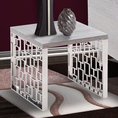 Ava Contemporary Rectangular End Table