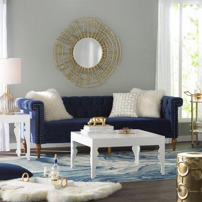 Cabalzara Sofa Upholstery: Navy Blue