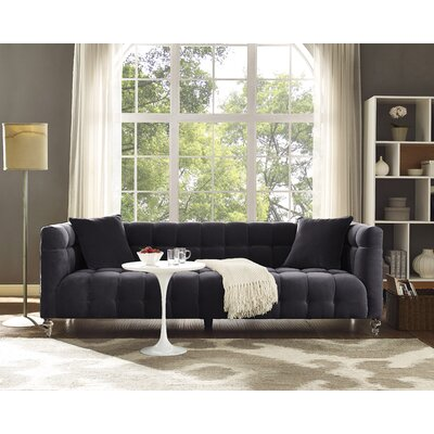 Kittrell Chesterfield Sofa Upholstery: Gray