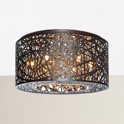 Elington 7-Light Flush Mount Finish: Bronze
