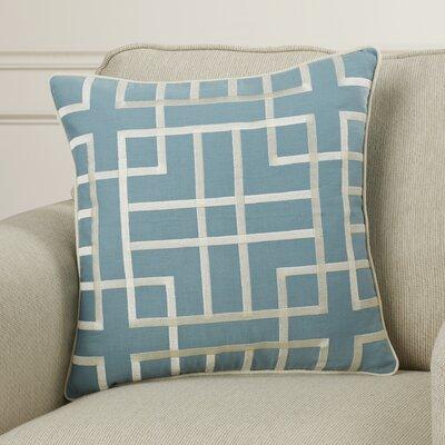 Patchoque Linen Throw Pillow Color: Slate/Beige, Size: 22 H x 22 W x 4 D
